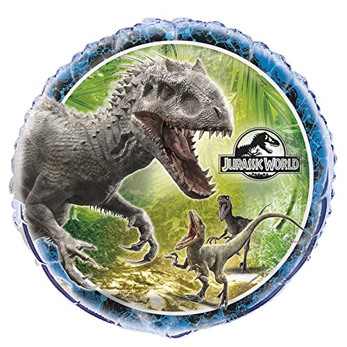 Unique Party Jurassic World Round Foil Balloon (One Size) (Multicolored)