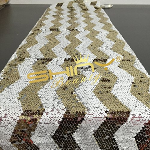 Sparkly Chevron Sequin Table Runner