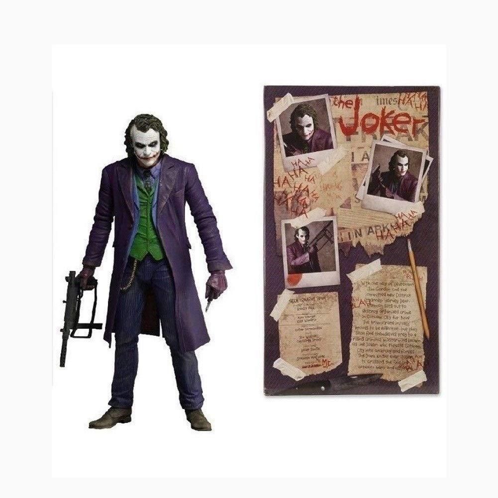 WWZL Figura Dark Knight Joker PVC Estatua En Caja De Regalo 18cm