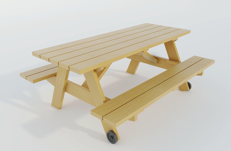 Amazon Com Picnic Table W Benches Plans Diy Outdoor Patio