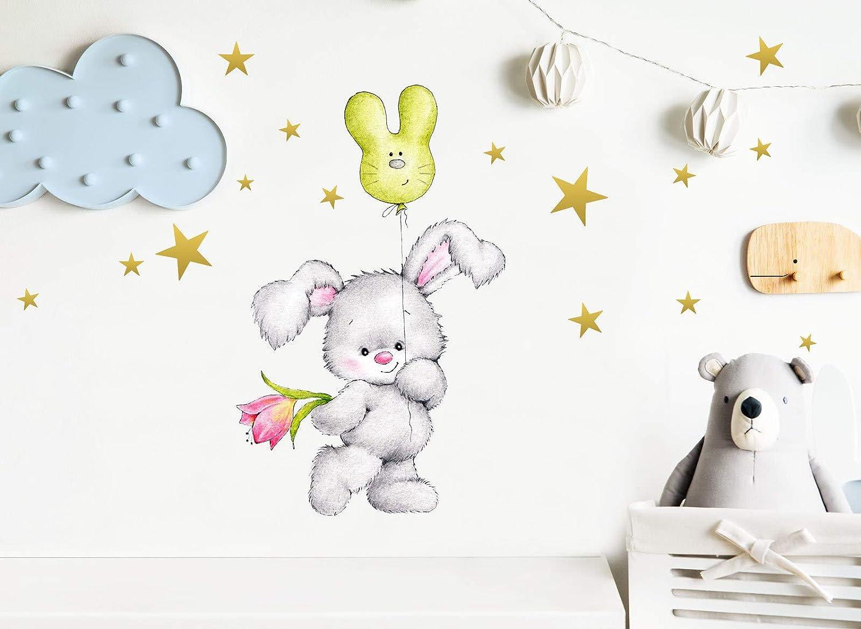 Little Deco Wandtattoo Hase Mit Sterne I A4 21 X 29 7 Cm I Luftballon Wandbilder Kinderzimmer Deko Babyzimmer Junge Wandsticker Kinder Madchenzimmer Dl181 Wohnaccessoires Deko Mobel Wohnaccessoires