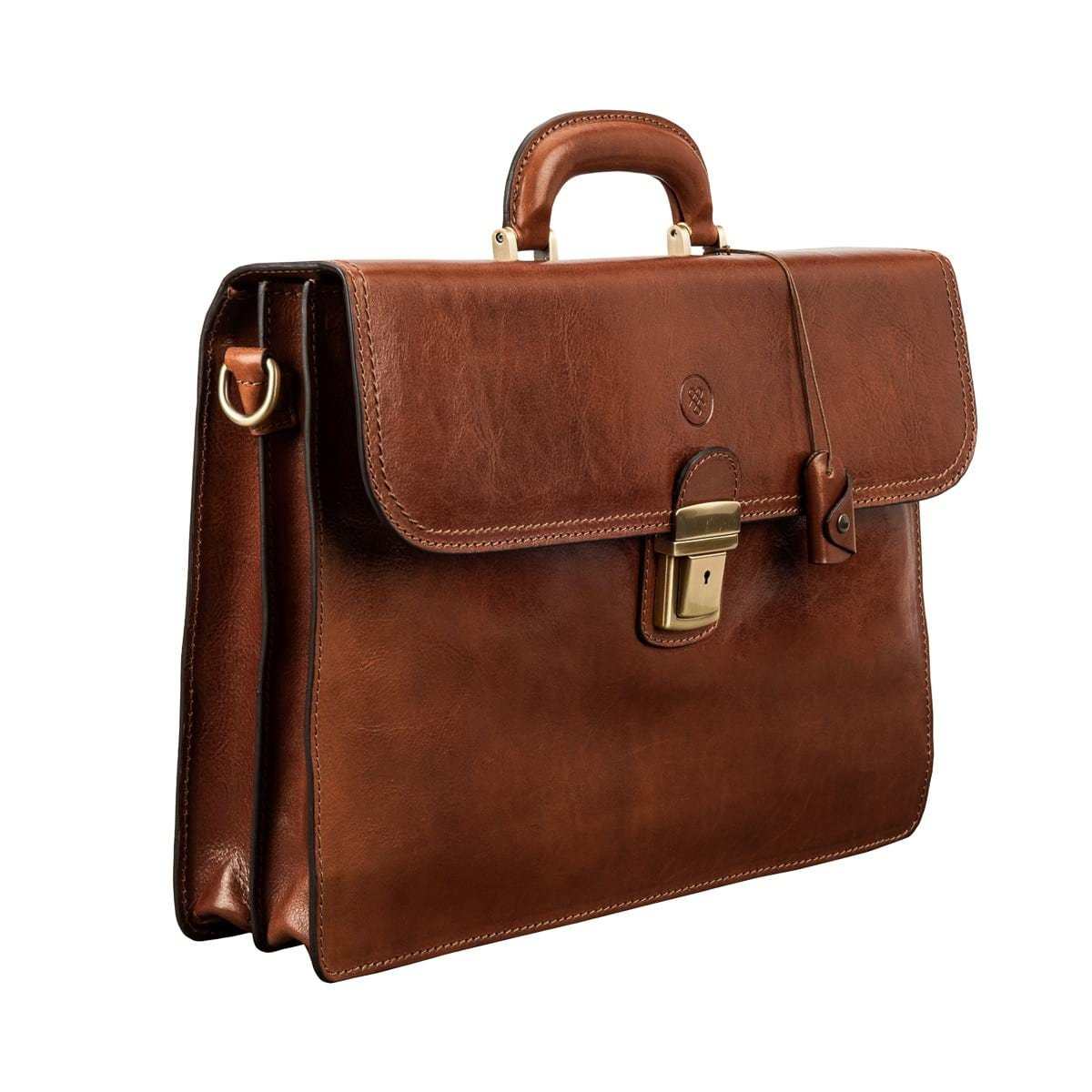 d772c499d Amazon.com | Maxwell Scott Luxury Leather Tan Traditional Briefcase (The  Paolo2) - One Size | Briefcases