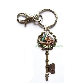 Amazon.com: Hermoso llavero, país de las maravillas llave ...
