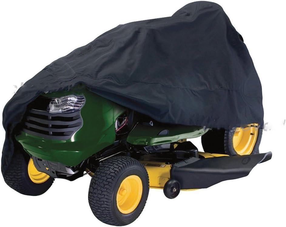 SparY Garden Yard Riding Mower Tractor césped Cubierta para Todas Las Estaciones Protección Negro(LNegro)