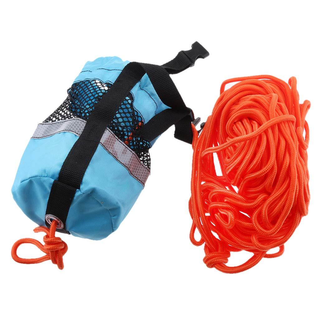 Homyl Blue 102ft Rescue Emergency Drowning Bag Line Rope Saver Swiming Throw Bag