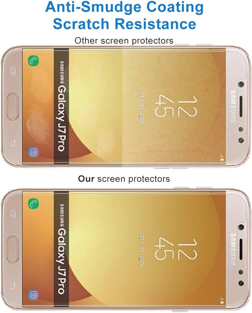 EU Version 0.26mm 9H Surface Hardness 2.5D Explosion-Proof Non-Full Screen Tempered Glass Screen Film ScreenProtector YHM 100 PCS for Galaxy J7 2017
