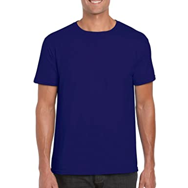 2c0f418d623 NAVY BLUE Gildan Softstyle Mens Cotton Plain Blank T Shirt All Colours   S  M L XL XXL
