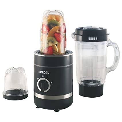 Borosil NutriFresh Blender and Grinder 400W, Black.