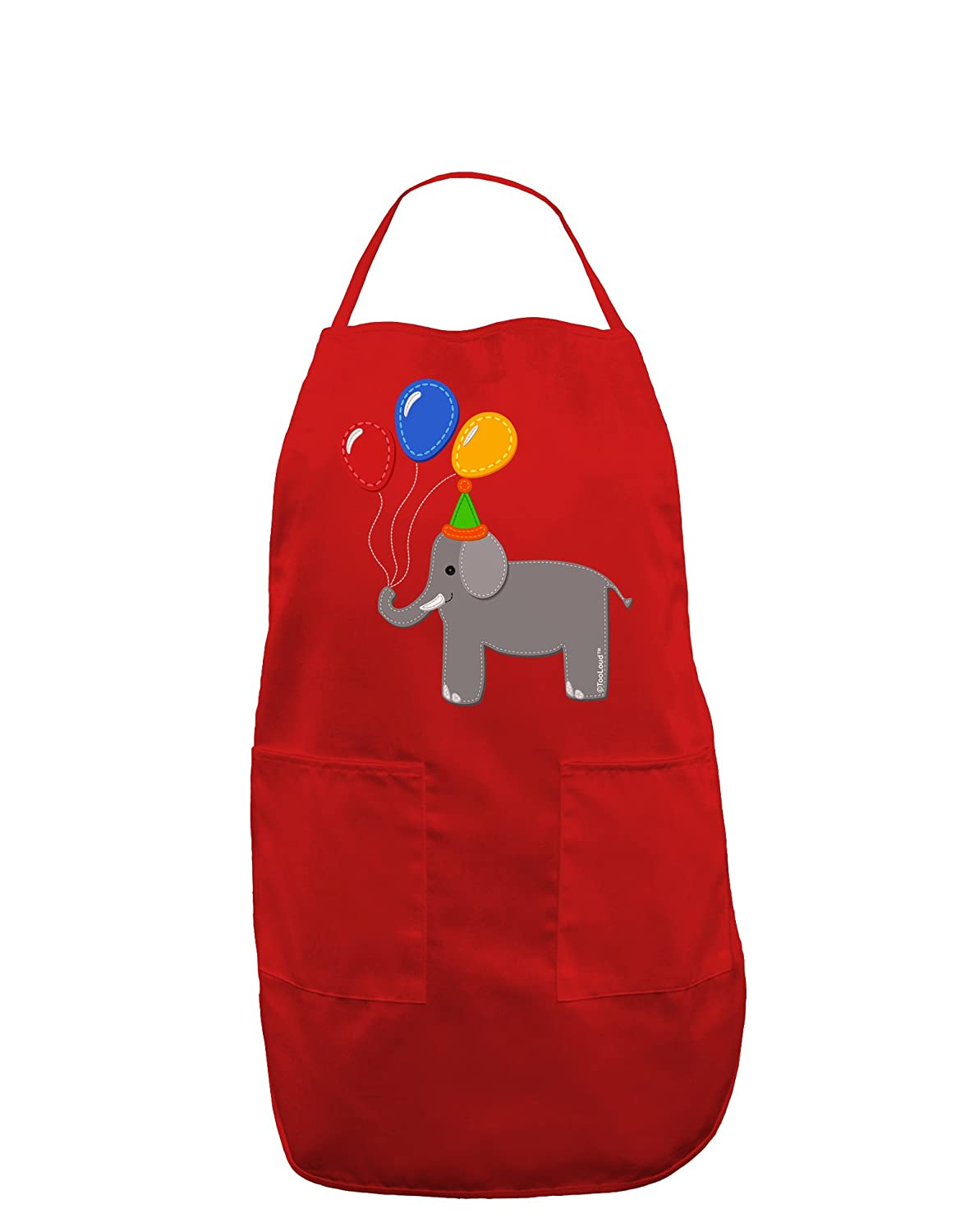 TooLoud Cute Elephant with Balloons Dark Adult Apron