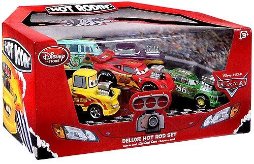 Disney / Pixar CARS Movie Exclusive 1:43 Die Cast Car 5-Pack Deluxe Hot Rod Set [McQueen, Mater, Ramone, Fillmore & Chick Hicks]