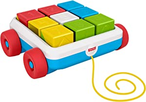 Fisher-Price Pull-Along Activity Blocks, Toy Wagon for Babies
