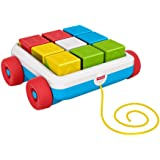 Fisher-Price Pull-Along Activity Blocks, Toy Wagon with 9 Stacking Blocks for Babies Ages 6 Months & up