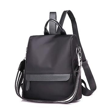 81bfd43515 Amazon.com  New Bagpack New Nylon Plain Women Backpack New Leisure ...