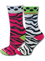 Sports Katz Zebra Crew Sock (2pair)
