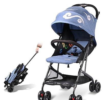 &Carrito de bebé Cochecito de bebé paraguas súper ligero plegable simple amortiguador - Cochecito (Color