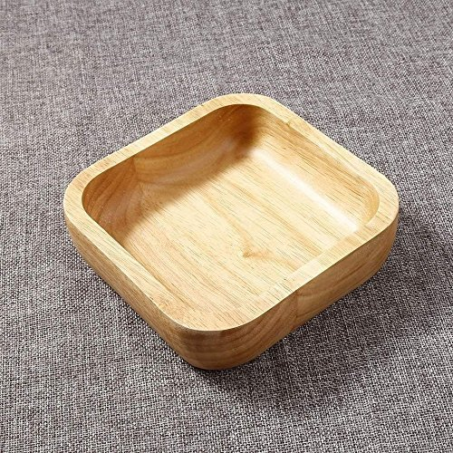 Kitchen Durable Home Square Wood Rubber Soup Natural Tool-12CM Rice Bowl