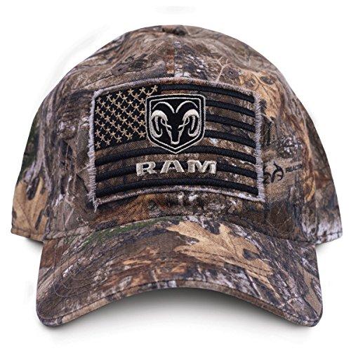 Buck Wear 9115 Buckwear Ram Smooth Operator Baseball Cap Camo Edge Frame/Black, One Size
