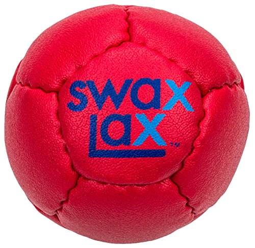 Swax Lax Lacrosse Training Ball (Red) - Same Size and Weight as Regulation Lacrosse Ball but Soft - No Rebounds, Less Bounce Practice Ball