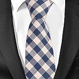 Brand Plaid Ties For Men Fashion Casual Neck Tie Gravatas Cotton Mens Necktie for Wedding Gravata Classic Corbata Red Neckwear (18505)