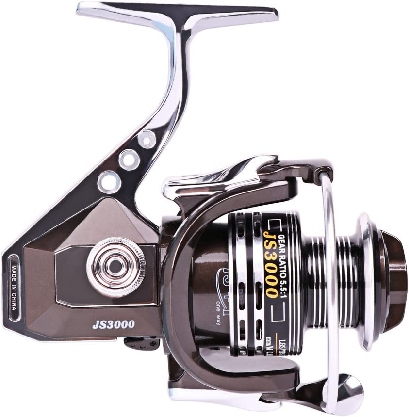 Fishing Reel by JTTVO 13+1BB Full Metal Body Ultra-smooth and Lightweight Spinning reel with Left//right Interchangeable Collapsible Handle for Boat Freshwater Saltwater Fishing