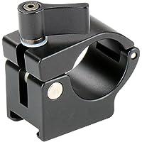 22mm Gimbal/Monitor Mount Rod Clamp Holder Bracket with Cold Shoe Mount for DJI Ronin-M, Ronin MX, Freefly MoVI,MOZA Gimbal - Black