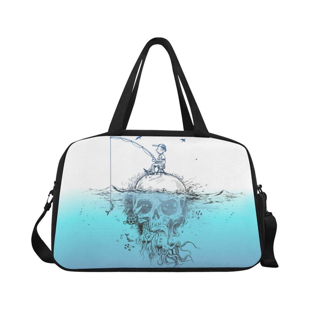 InterestPrint Unique Design Duffel Bag Travel Tote Bag Handbag Luggage