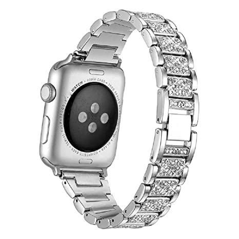MeiQing - Correa para Apple Watch de 42 mm y 44 mm con dos ...