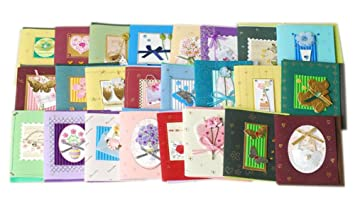 Amazon.com: Mini DIY Assortment All Occasion Greeting Cards, Pack ...