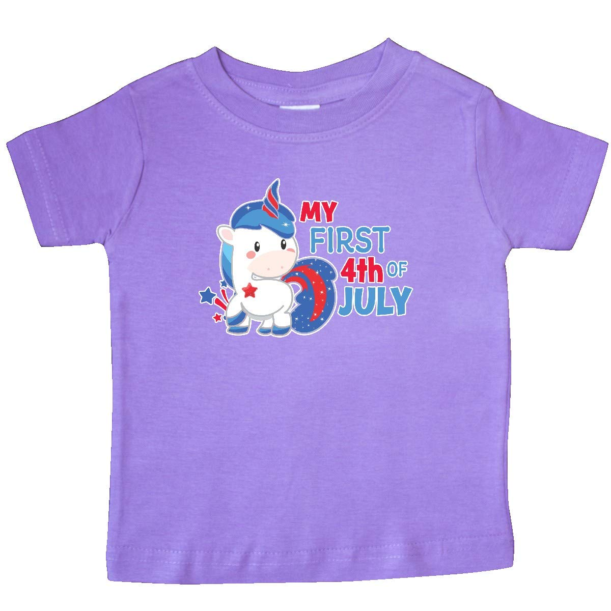 inktastic My First 4th of July with Unicorn Baby T-Shirt