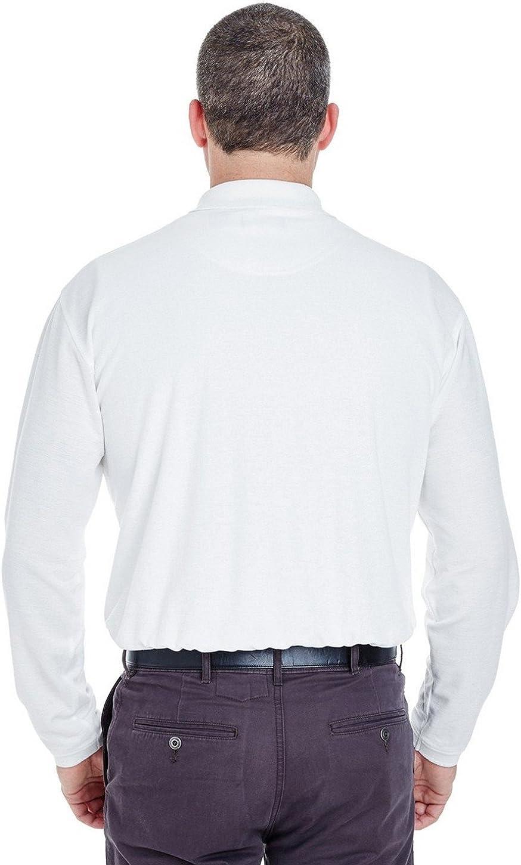 UltraClub Long-Sleeve Whisper Pique Polo 8542