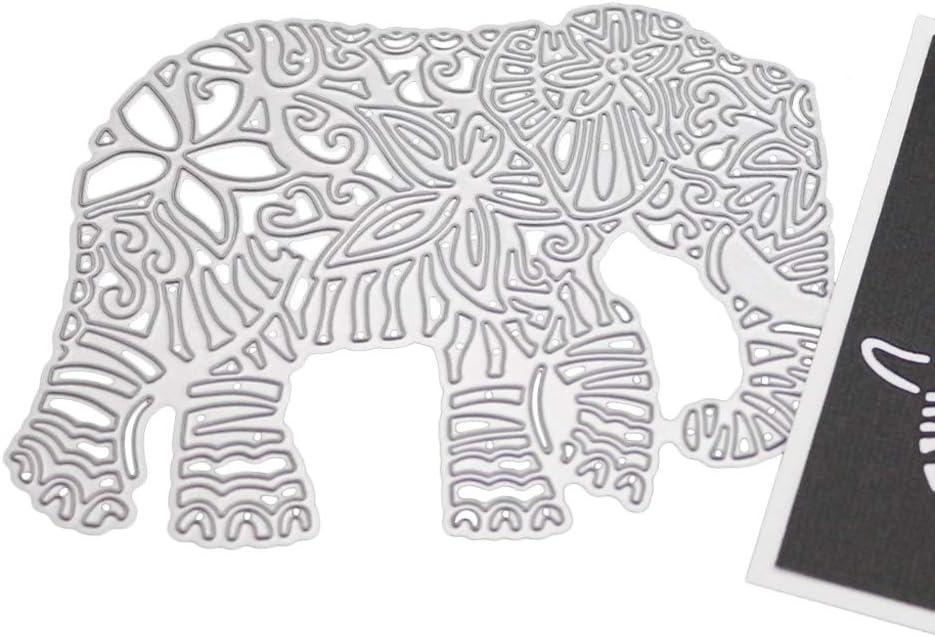 Lain Elephant Metal Cutting Dies Stencil DIY Scrapbooking Album Stamp Paper Card Embossing Decorationationationation Craft