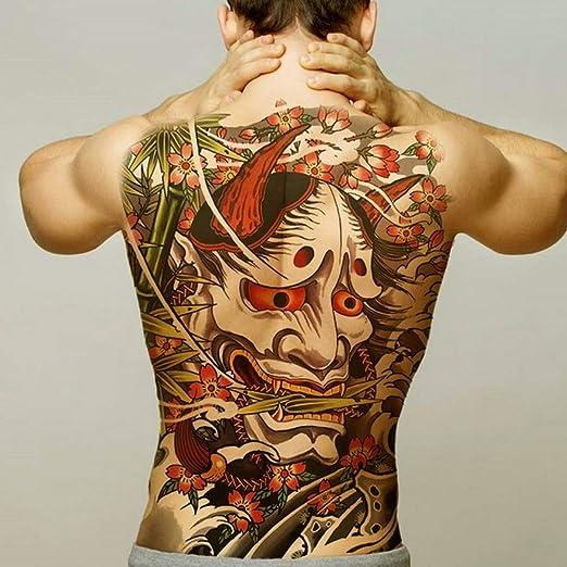 Handaxian 2 unids-Espalda Completa Tatuaje Totem Impermeable ...