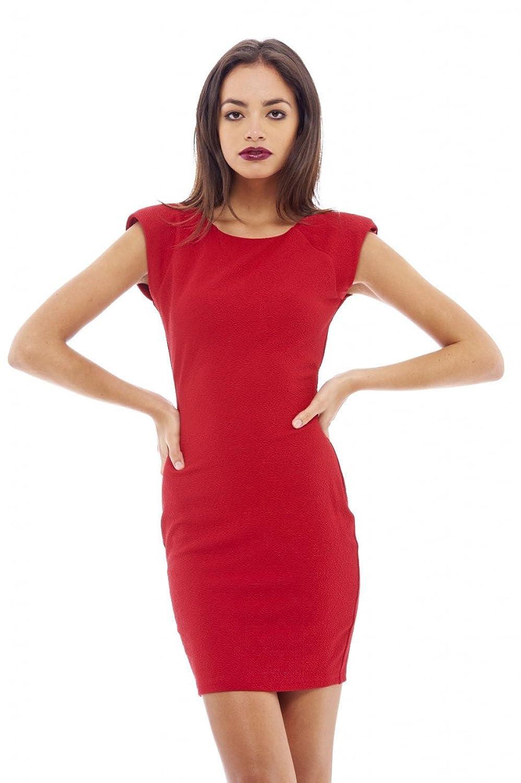 AX Paris Women's Shoulder Pad Bodycon mini Dress