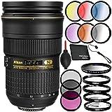 Nikon AF-S 24-70mm f/2.8G ED Lens - 7PC Bundle Includes 3 Piece Filter Kit + 4 Piece Macro Filter Set + 6 Piece Color Graduated Filter Kit + UV Filter + Dust Blower + MORE