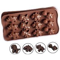 YFairy Molde de Silicona para Tartas, 12 moldes de Dinosaurio para Chocolate, Galletas,