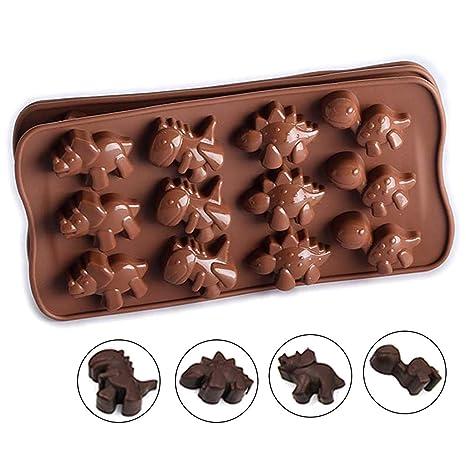 Biniwa-12 - Molde de silicona para tartas, diseño de dinosaurio
