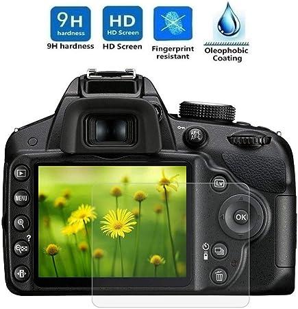 Imagen deREY Protector de Pantalla para Nikon D3200 - D3300 - D3400, Cristal Vidrio Templado Premium