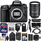 Nikon D750 Digital SLR Camera Body with 28-300mm VR Lens + 64GB Card + Case + Flash + Battery & Charger + Grip + Tripod + Kit