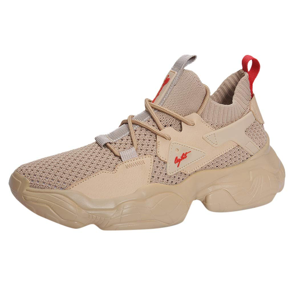 Street Sneakers Men Work Sneakers ✔ Men Outdoor Shoes Vintage Summer Sneakers Casual Fashion Mesh Basketball Shoes Khaki