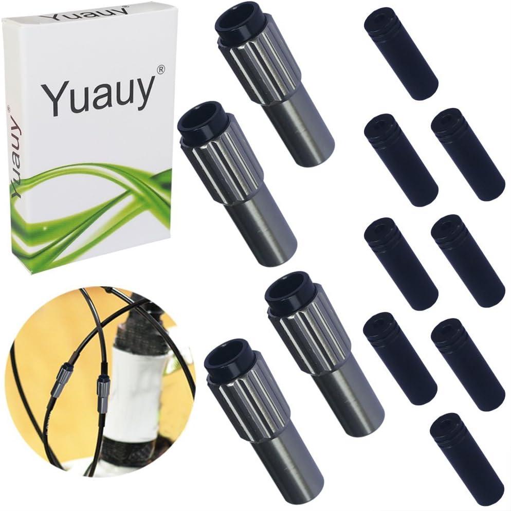Yuauy 4/pcs Ti Pro Mini Inline V/élo c/âble Ajusteurs W//caches dextr/émit/é