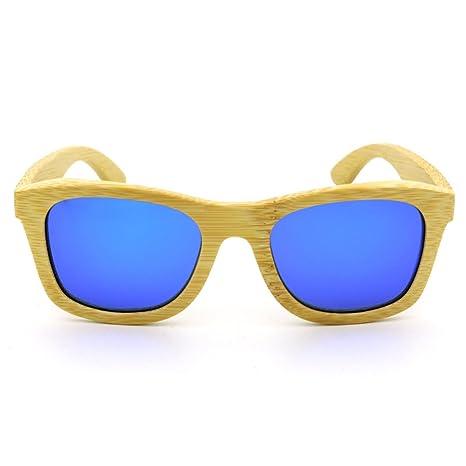 Wkaijc Männer Und Frauen Reiten Holz Metall Scharniere Polarisation Retro Sonnenbrille Die Sonnenbrille,C