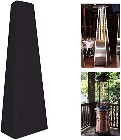 Outdoor Square Standing Patio Heater Protector for Pyramid Torch and Triangle Heater Waterproof Glass Tube Heater Cover Heavy Duty /&Anti-dust with Storge Bag