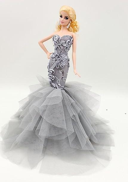 gc0173 Black Tight Fit Fashion Designer Dress for 16 Female Figure  12 Tall Doll