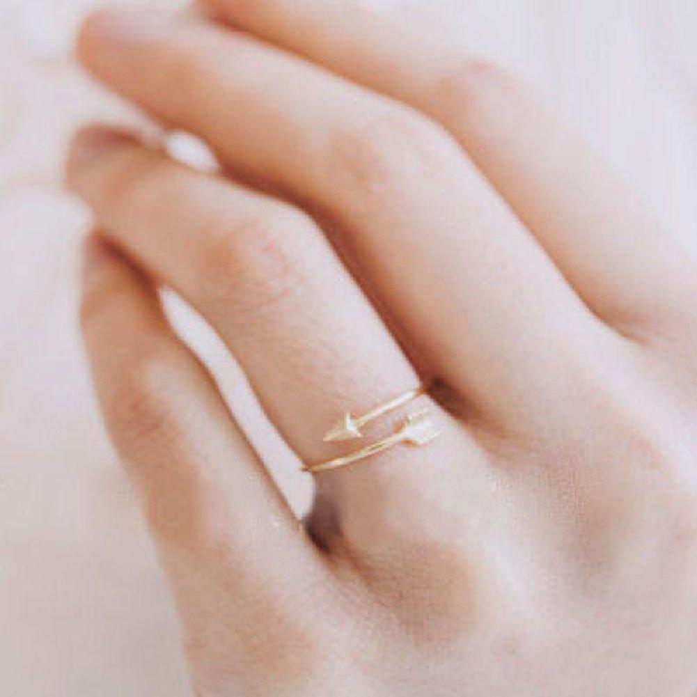 Amazon.com: New Women Girl Gold Silver Fashion Adjustable Arrow ...