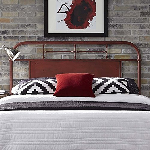 Liberty Furniture Vintage Series King Metal Headboard, Red