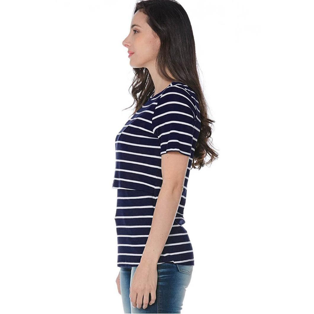Gusspower Raya Blusas para Mujeres Embarazadas, Premama Camisa de Manga Corta para Mujer Casual Camiseta Mujer Ropa de Tops Mujer Verano: Amazon.es: Ropa y ...