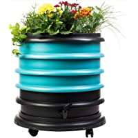 WormBox : Vermicompostador 3 bandejas Turquesa + Jardinera - 56 litros