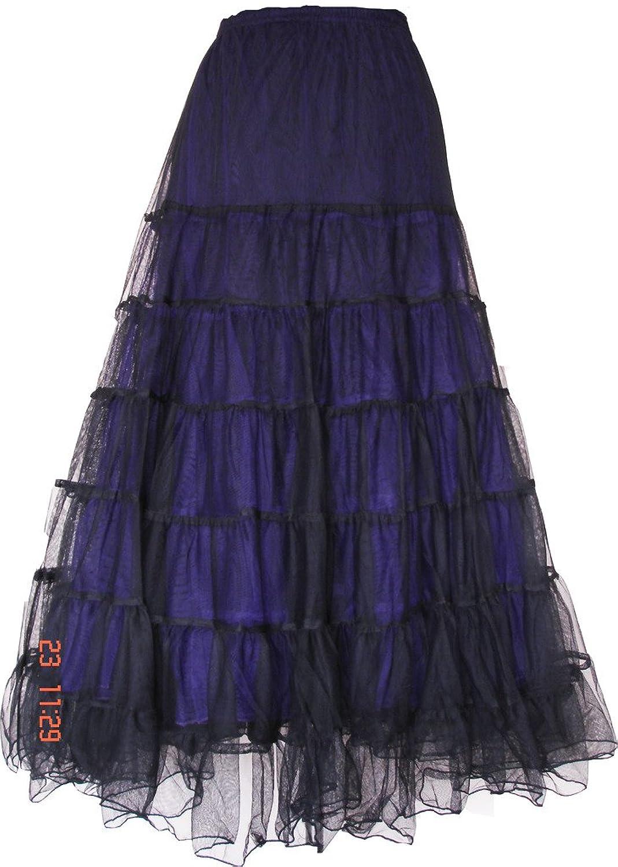 Hot BARES Punk Prom Wear Victorian Net Skirt One Size Purple