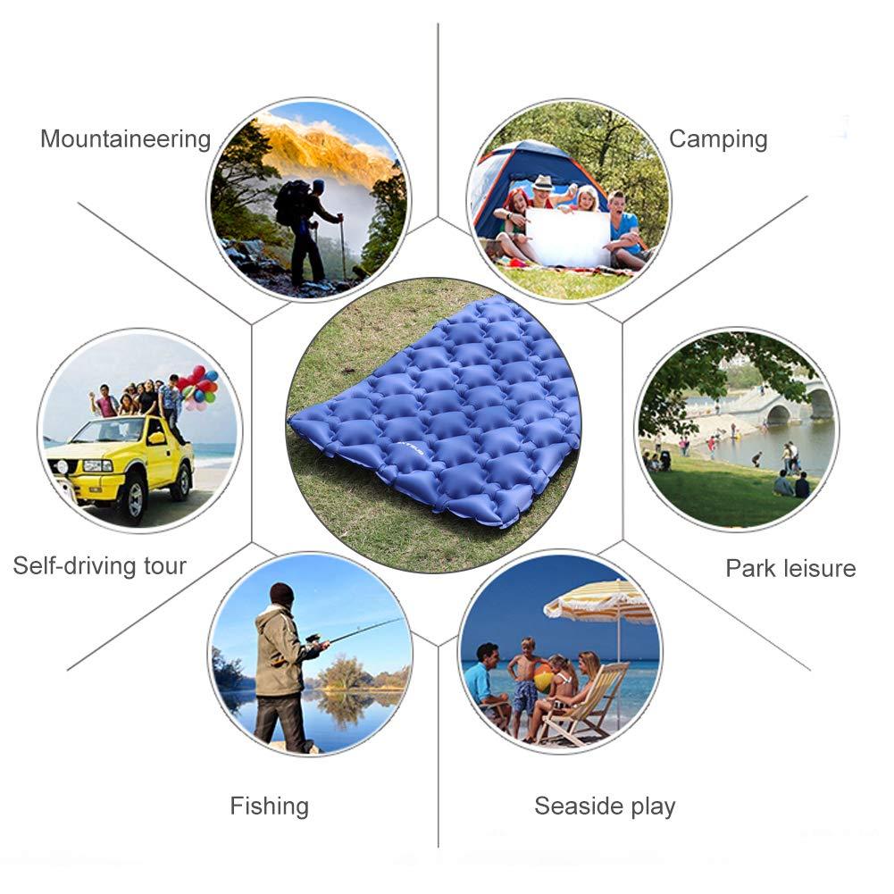 EXTSUD Ultraleichte Aufblasbare Isomatte|selbstaufblasbare Isomatte|Camping Matratze Schlafmatte Ideal f/ür Outdoor Camping,Reise,Wandern,Strand|Hohe Qualit/ät|MEHRWEG kleines Packma/ß Luftmatratze