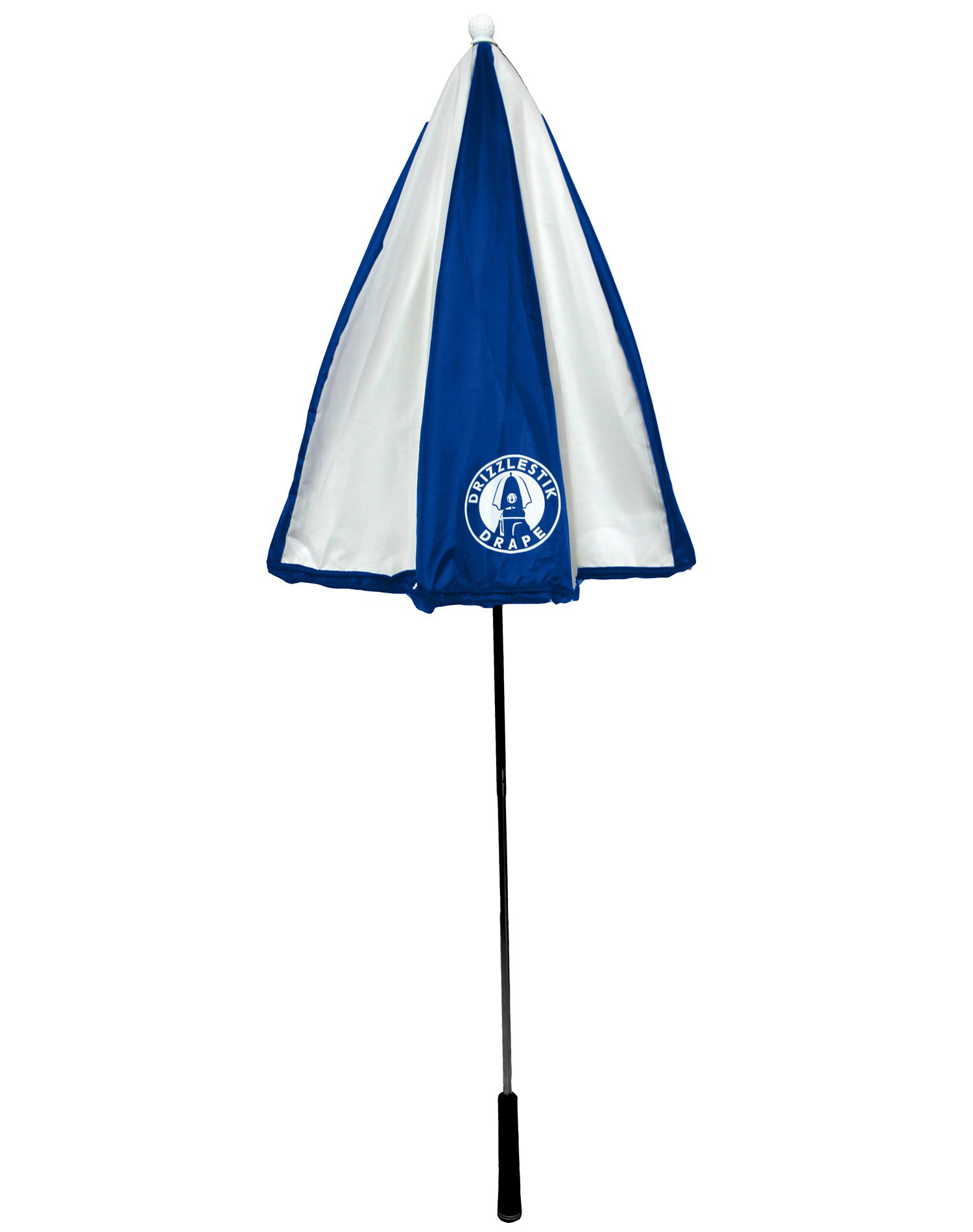 DrizzleStik Drape - Golf Club Umbrella (Navy/White)